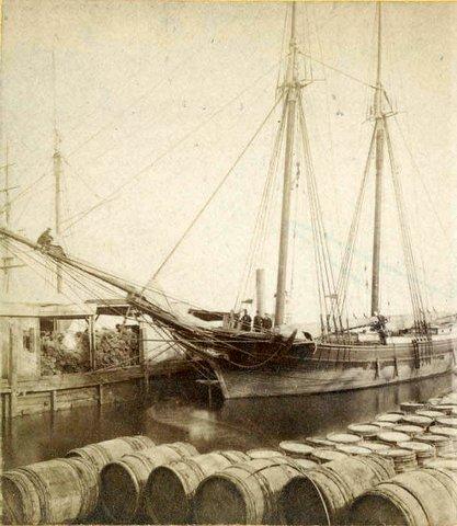 Schooner at Chestnut Street wharf Phila-