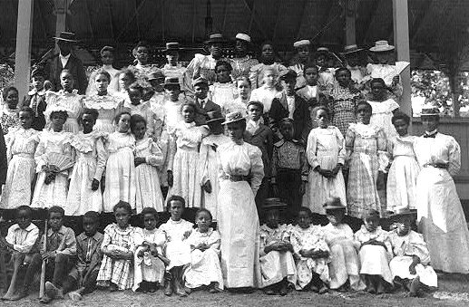 african-american-children-with-a-few-adults-in-a-pavilion-1