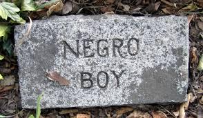 Negro boy tombstone
