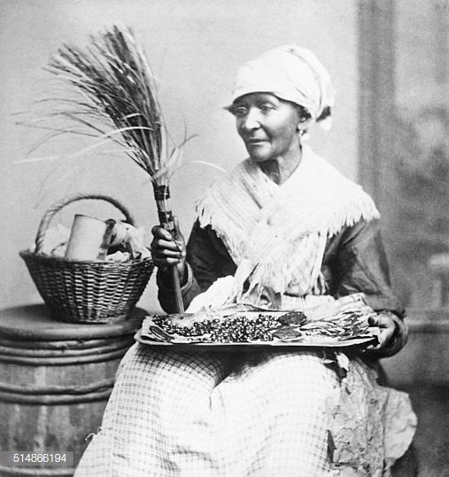 (Original Caption) A Negro woman vendor. Stereoscopic view. ORIGINAL CAPTION.