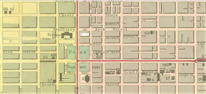 arch st map 1