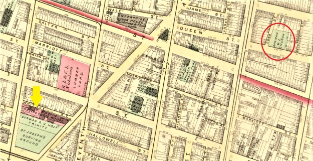 Map Grocers' Sugar House and BBG