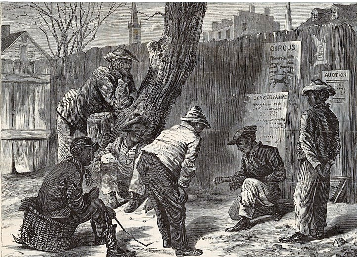 Negro Boys Playing Marbles