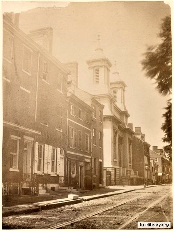 South side of Spruce Street 1859